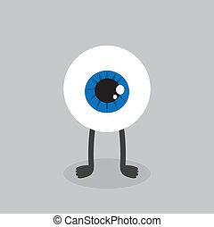 Eyeball Character Standing