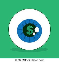 Eyeball Dollar Sign