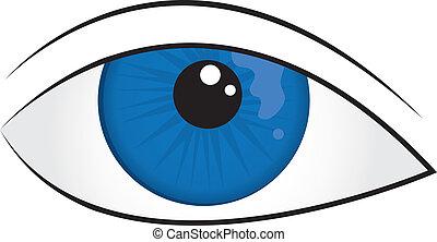 Eyeball - Isolated illustrated blue eye closeup