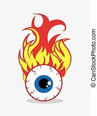 Eyeball on Fire