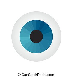Eyeball on white background. Vector illustration.