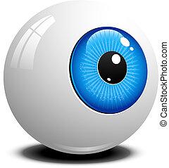 Eyeball over white. EPS 10, AI, JPEG