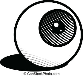 Eyeball - Icon illustration of a single eyeball.