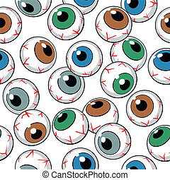 Eyeballs seamless background. Vector Illustration