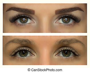 eyebrow correction - Modeling, painting and shaping eyebrows...