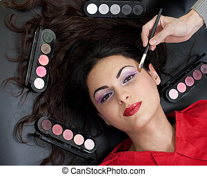 Eyebrow makeup routine