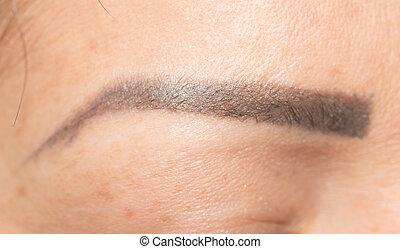eyebrow., primer plano