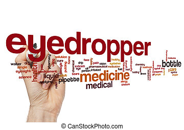 Eyedropper word cloud