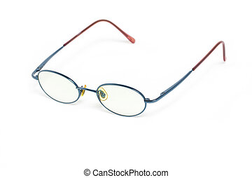 Eyeglass isolated on white.