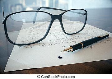 Eyeglass on mathematical formulas