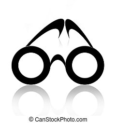 Eyeglasses - Abstract classic eyeglasses over white...
