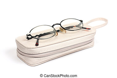 eyeglasses and case