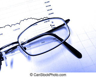 Eyeglasses and Stock Chart