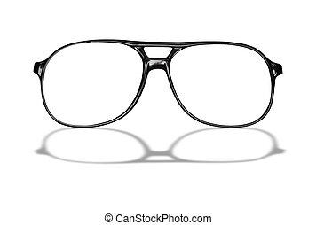 Eyeglasses - Black eyeglasses isolated on white background...