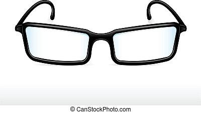 Eyeglasses - Black eyeglasses vector illustration