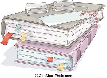 eyeglasses, books
