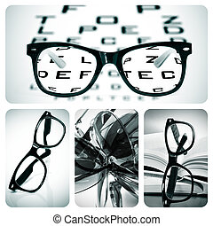 eyeglasses collage - collage of some different pictures ...