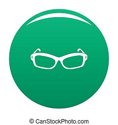 Eyeglasses icon green