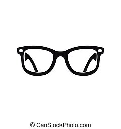 Eyeglasses icon in simple style - icon in simple style on a...