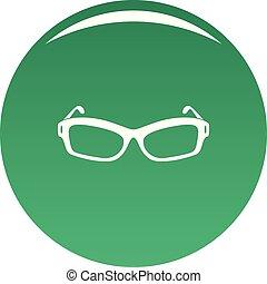 Eyeglasses icon vector green