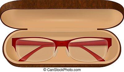 Eyeglasses In Case Illustration
