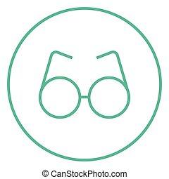 Eyeglasses line icon.