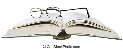 Eyeglasses on book isolated objects - Eyeglasses on book...