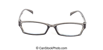 eyeglasses on isolated background