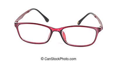 eyeglasses on isolated background