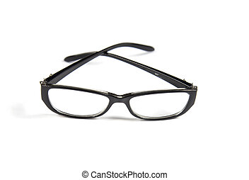 eyeglasses on isolated white background
