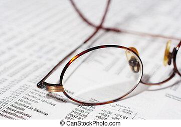 eyeglasses on stocks