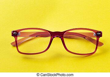 eyeglasses on the table