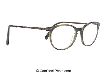 Eyeglasses on white background