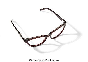 Eyeglasses on white background