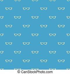 Eyeglasses pattern seamless blue
