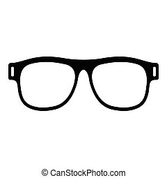 Eyeglasses with diopters icon, simple style. - Eyeglasses ...