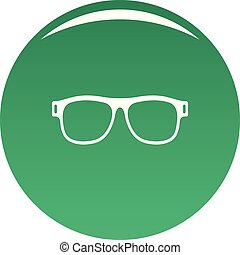 Eyeglasses with diopters icon vector green - Eyeglasses with...