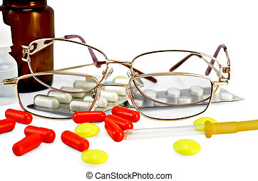 Eyeglasses with medications