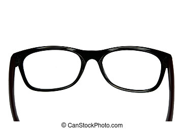 Eyeglasses with transparent glasses