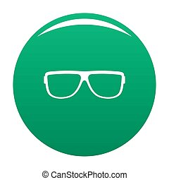 Eyeglasses without diopters icon green - Eyeglasses without ...