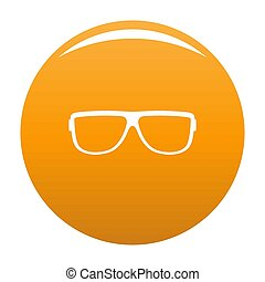 Eyeglasses without diopters icon orange - Eyeglasses without...
