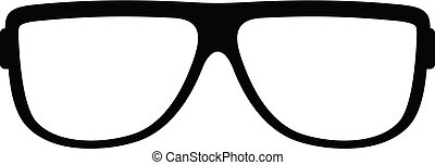 Eyeglasses without diopters icon, simple style. - Eyeglasses...