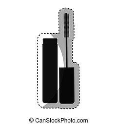 eyelash bottle isolated icon