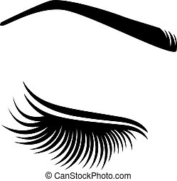 Vector illustration of lashes