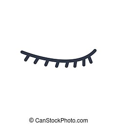 eyelash - eye lash  glyph color icon