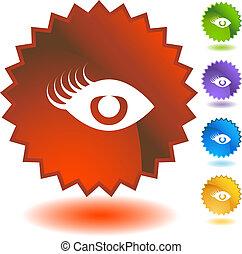 Eyelashes Badge