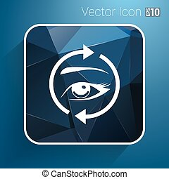 Eyelashes eyebrows vector eyelash eye  icon makeup isolated