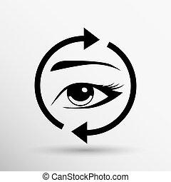 Eyelashes eyebrows vector eyelash eye icon makeup isolated -...