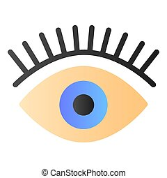 Eyelashes flat icon. Eye color icons in trendy flat style. Beauty gradient style design, designed for web and app. Eps 10.