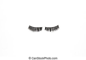 eyelashes isolated on white background